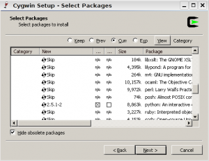 cyg choose package 300x231 cygwin