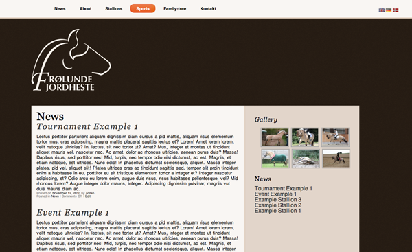 horse website screenshot NoMA real life 2010