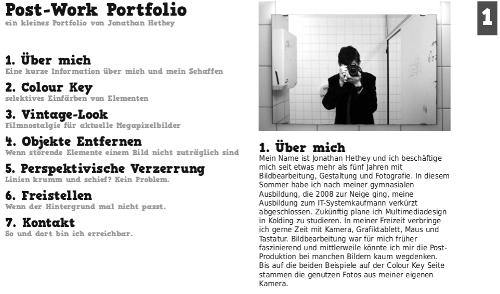 postwork portfolio preview Postwork Portfolio als PDF
