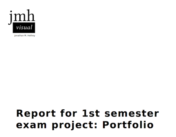 report 1sem 2010 my portfolio and report